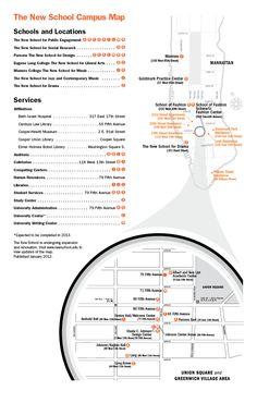 New School Campus Map