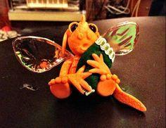 Sculpey clay blankie dragon