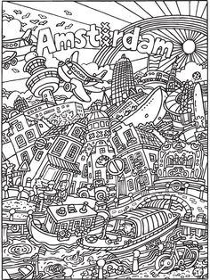 Kleurplaten Voor Volwassenen Amsterdam.Grote Kleurplaten Maken Voor Je Klas Groep 5 6 Pinterest