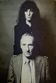 Patti Smith and William Burroughs  by Robert Mapplethorpe