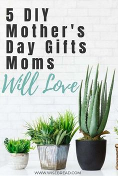 Want some cheap and easy DIY mothers day presents? Here are 5 great DIY gifts all moms are sure to love. Diy Mothers Day Gifts, Mothers Day Presents, Gifts For Mom, Diy Gifts, Money Saving Tips, Money Savers, Money Tips, Wedding Champagne Flutes, Mother's Day Diy