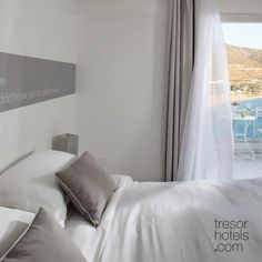 Trésor Hotels and Resorts_Luxury Boutique Hotels_#Greece_ Superior rooms are located at the highest level of the complex and have an easy access to the second largest swimming pool. Their decors and furniture preserve the aesthetics of #Cycladic architecture and are bound to fulfil your love for luxury and comfort. Superior Room, Boutique Hotels, Hotels And Resorts, Easy Access, Preserve, Palace, Swimming Pools, Ios, Greece