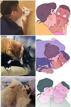 Awww que fofula Jojo Anime, Anime Cat, Anime Manga, Jojo's Bizarre Adventure, Jojo's Adventure, Fanart, Animes On, Jojo Parts, Jojo Memes