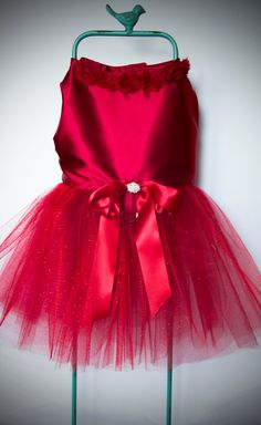 Beautiful Red Satin Dog Dress by DesignsbyHartcrafter on Etsy