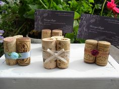 Wine Cork Place Card Holder - Table Numbers - Escort Cards -  Rustic Table Deco -Bridal Shower  -Set 0f 10- Christmas Table Decorations. $28.00, via Etsy. Unique Bridal Shower, Bridal Shower Cards, Bridal Shower Decorations, Table Decorations, Card Table Wedding, Wedding Table Numbers, Wedding Cards, Wedding Stuff, Rustic Wedding Alter