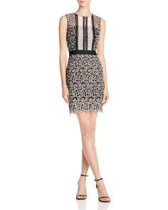 AQUA Mixed Lace Dress