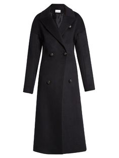 RAEY Peak-lapel wool-silk coat. #raey #cloth #coat