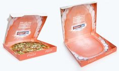 Colgate supplied pizzerias with creative pizza boxes designed to look like the inside of a human mouth.