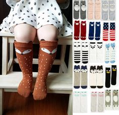 6fe88e1c9c0 Fox Socks Kids Cute Cartoon Knee High Socks winter socks Animal My Neighbor  Totoro Panda Dairy cow baby boys girls socks