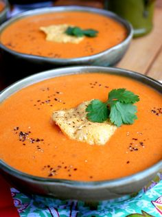 Creamy Tomato Chipotle Soup - takes the chill out of winter : NoblePig Chipotle Soup Recipe, Easy Tomato Soup Recipe, Chipotle Recipes, Creamy Soup Recipes, New Recipes, Real Food Recipes, Salad Recipes, Cooking Recipes, Healthy Recipes