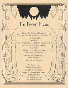 I'M FROM HERE - POSTER Wicca Pagan Witch Witchcraft Goth BOOK OF SHADOWS picclick.com
