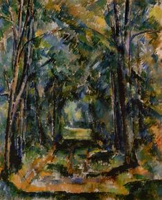 Paul Cézanne ~ The Alley at Chantilly, 1888