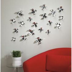 Umbra Wall Flower Wall Decor (Set Of 20) SKU# 470041 158 By