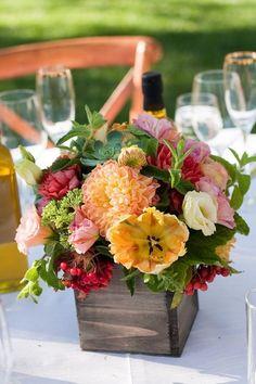 vineyard wedding centerpieces / http://www.himisspuff.com/wooden-box-wedding-decor-centerpieces/19/