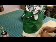How To Make A Leather Tote Bag Without A Gusset Part 2 - YouTube