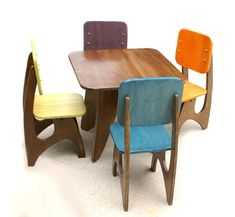 modern table and chairs set