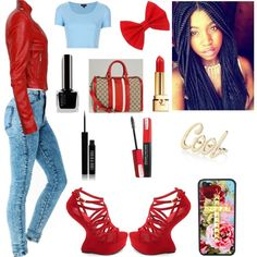 ****RED****, created by mb-misfit on Polyvore