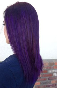 Hair&&Beauty We've gathered our favorite ideas for Purple Hair Pravana Violet Personal Work In Violet Hair Colors, Dyed Hair Purple, Hair Color Purple, Dye My Hair, 4c Hair, Hair Colours, Purple Hair Tumblr, Pelo Color Azul, Different Hair Colors