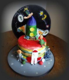 Aliens & Autism Rocket - Sugar Art 4 Autism Collaboration by Fifi's Cakes