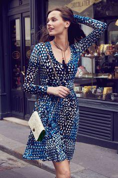 Dotscape Dress Plenty. TracyReese  #Anthropologie. Street style