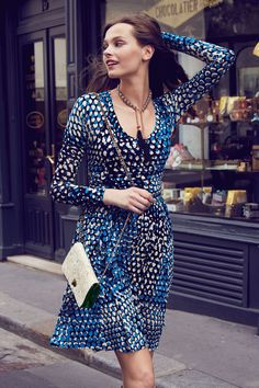 Dotscape Dress Plenty. TracyReese  #Anthropologie. Street style