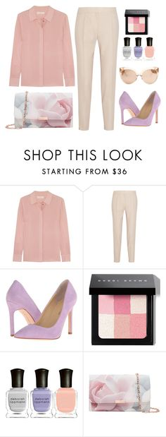 """Blush Tones"" by pearlie-g8s on Polyvore featuring Tory Burch, STELLA McCARTNEY, Ivanka Trump, Bobbi Brown Cosmetics, Deborah Lippmann, Ted Baker, Linda Farrow, blush, Nudes and workoutfit"