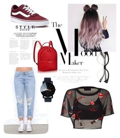 """""""Skatergirl🤘🏻❤️"""" by aicha-13 on Polyvore featuring mode en Vans"""