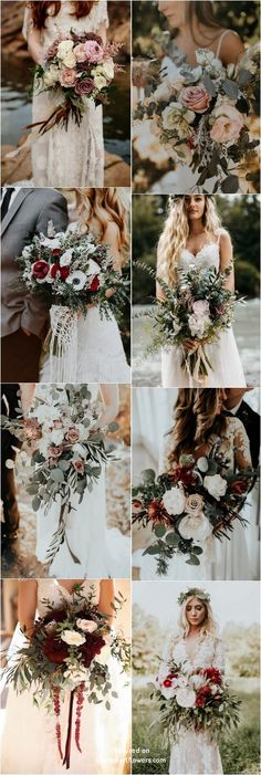 Bohemian wedding bouquet and flowers #weddings #weddingbouquets #weddingideas #bohemian #boho #greenery #weddingflowers #weddinginspiration #dpf #deerpearlflowers