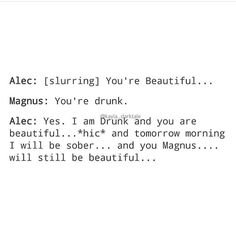 Love it. My Malec heart