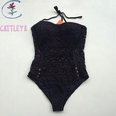 CATTLEYA Body suits Women Secret Swimwear Crochet Triangle Elastic Swimsuit One Pieces Tunic Bathing suit Beach Wear