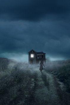 Eerily desolate, hauntingly beautiful house.