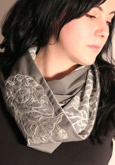 Tutorials - lace and fabric infinity scarf