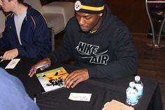 "Le'Veon Bell Public Signing 11-28-14 #PittsburghSteelers #Le'VeonBellsigning ""totalsportsenterprises http://www.tseshop.com/?AffId=63"