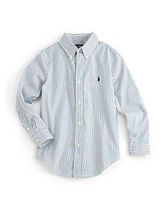 Ralph Lauren Little Boy's Striped Poplin Shirt