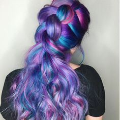 Beautiful purple and teal and pink braid!