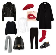 """Black White Red"" by guestness on Polyvore featuring мода, The Row, Helmut Lang, Dolce&Gabbana, A.P.C., Forever 21, Jouer, Fivestory, Michael Kors и River Island"