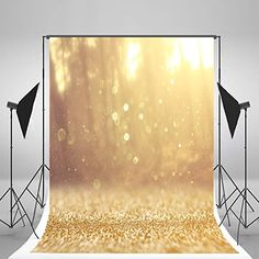5x6.5ft Happy Birthday Photography Backdrops Yellow Bling Bling Bright Dots Backdrop for Children Photo Background