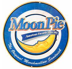 Moon Pie Embossed Die-Cut Tin Sign | Open Road Brands