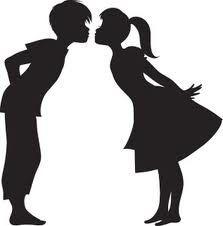 boy and girl kissing silhouette - Google keresés