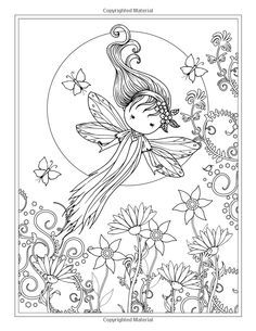 Whimsical World Coloring Book: Fairies, Mermaids, Witches And More!: Molly  Harrison