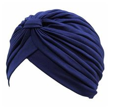 Navy Blue Fashion Turban