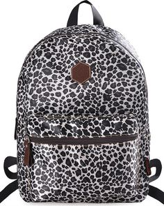 Fashion leopard print Lightweight Polyester Backpack Casual Women School Bag  Cute Backpacks For Traveling 368d7ea709cd9
