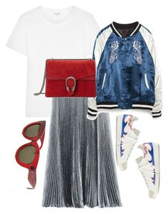 """JA!"" by vrosenblad ❤ liked on Polyvore featuring CÉLINE, Yves Saint Laurent, Zara, Gucci and Isabel Marant"