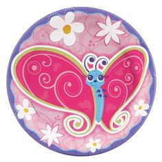 Flutterby Butterflies Dinner Plates (8) by BirthdayExpress, http://www.amazon.com/dp/B003B28YUM/ref=cm_sw_r_pi_dp_FdgXrb03EP4HK