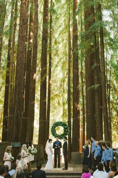 California Redwoods Winter Wedding photographed by Emily Blake - via ruffled