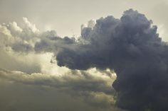 Fine art prints of strange thunderhead storm clouds.