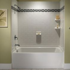 59 Delightful Tile Tub Surround Images In 2019 Bathroom Master