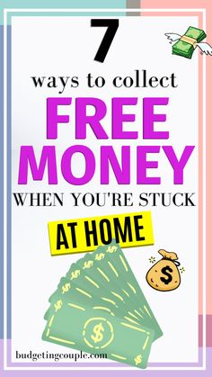 Tired of being stuck at home? Check out these 7 hacks that help you make money from home! You could be working a side hustle and earning free cash while you're stuck at home. Start making money today and take control of your finances! Free Money Now, Money Today, Earn Money From Home, Earn Money Online, Online Jobs, Ways To Save Money, How To Get Money, Money Tips, Money Saving Tips