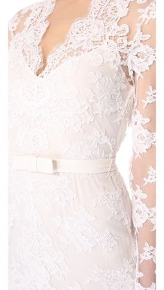 lovely lace. gorgeous detailing!