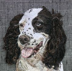 Buzz Freehand Machine Embroidery Portrait commission by Art Sea Craft Sea Freehand Machine Embroidery, Embroidery Art, Artist Workshop, Sea Crafts, Thread Art, Gold Work, Free Motion Quilting, Various Artists, Photo Contest